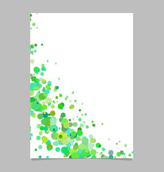 Blank curved abstract scattered confetti dot vector