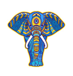 Boho elephant floral design vector
