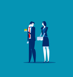Business people and different salaries concept vector