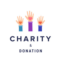 Charity and donation banner template vector