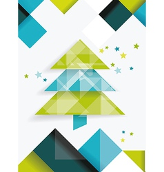 Christmas tree and decorations on winter vector