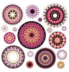 Circled ornaments set vector image