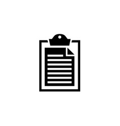 clipboard and paper flat icon vector image