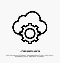 cloud cloud-computing cloud-settings line icon vector image