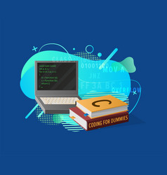 coding education programming in laptop vector image