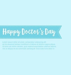 collection stock card for world doctor day vector image