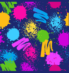 Colorful seamless pattern grunge background with vector