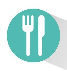 cutlery icon design vector image