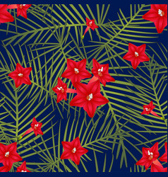 Cypress vine flower on navy blue background vector
