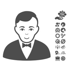 Dealer Icon With Tools Bonus vector