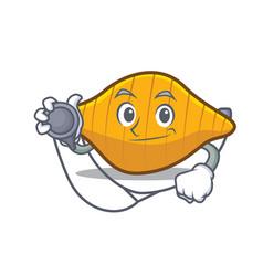Doctor conchiglie pasta character cartoon vector