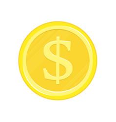 dollar gold coin icon vector image
