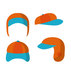 ear flap cap vector image