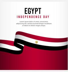 Egypt independence day celebration banner set vector