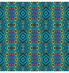 ethnic geometric striped seamless tribal pattern vector image