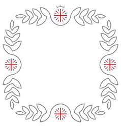 Floral frame with United Kingdom flags and copy vector image