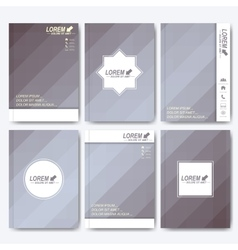 Grey set of corporate identity template vector image