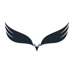 hunter eagle negative space vector image