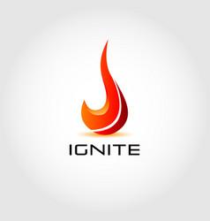 Ignite fire logo design symbol vector