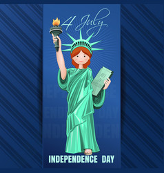independence day card fourth of july vector image