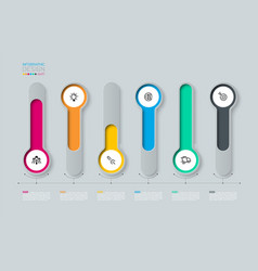 infographic 3d long circle label vector image