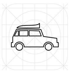 Jeep travel pictogram concept icon vector