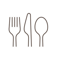 Kitchen utensils linear vector