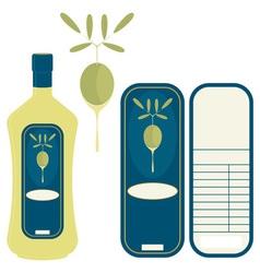 label olive oil vector image