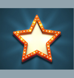 Light bulb star frame vector