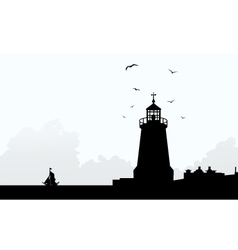 Lighthouse at Morning vector