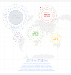 linear infographics vector image