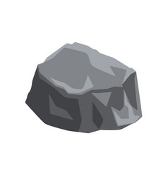Massive stone with lights and shadows gray vector
