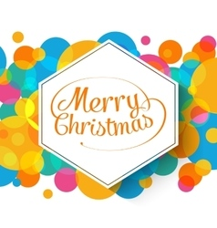 Merry Christmas multicolor background for your vector image