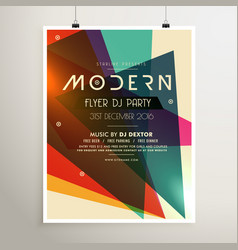 Modern retro style party flyer poster template vector