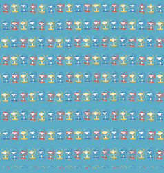 monkeys in a row blue red yellow seamless pattern vector image