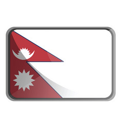 nepal flag on white background vector image