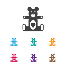 Of kid symbol on teddy-bear vector