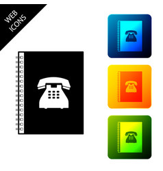 phone book icon isolated address book telephone vector image