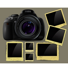Photo camera and frames vector