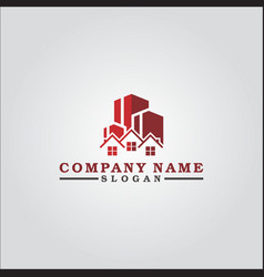red real estate vector image
