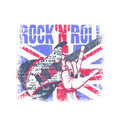 rockn roll vector image
