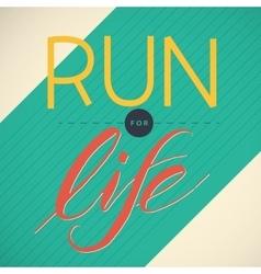 Running poster vector