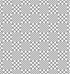 Seamless zig zag line grid pattern background vector image