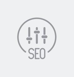 Seo parameters settings icon vector