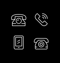 set line icons phone vector image