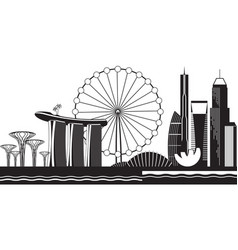 Singapore cityscape by day vector