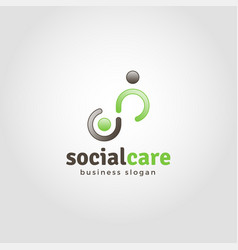 social care - humanity logo template vector image