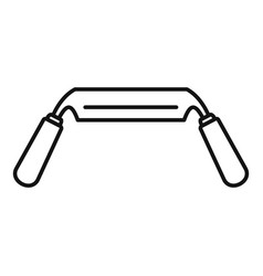 spokeshave icon outline style vector image