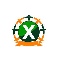 Synergy logo initial x vector