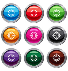 target set 9 collection vector image